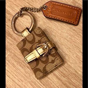 Coach brand New signature monogram key ring chain